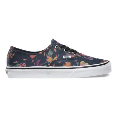 Vans Black Bloom Authentic (black/true white)