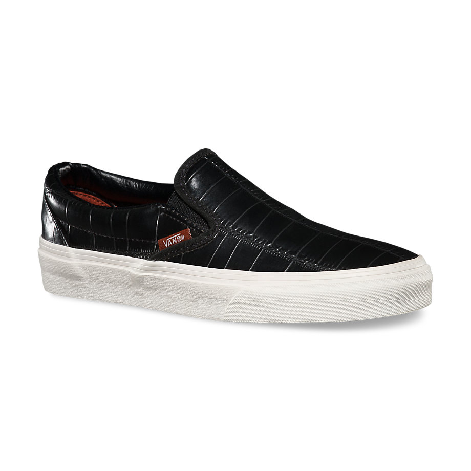 Croc Leather Slip-On