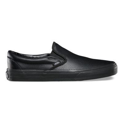 Vans Shoes Perf Leather Slip-On (black/black)