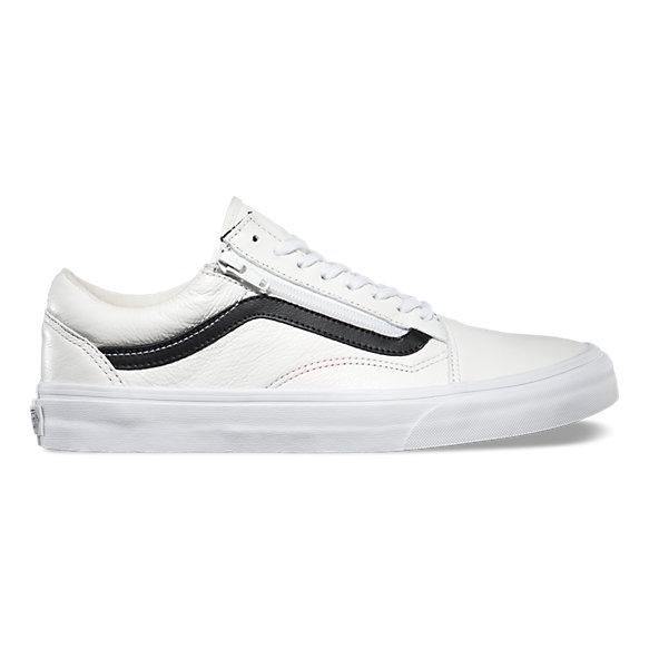 vans old skool zip white