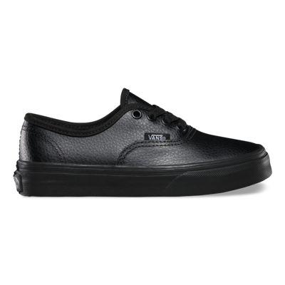Vans Shoes Kids Leather Authentic (black/black)