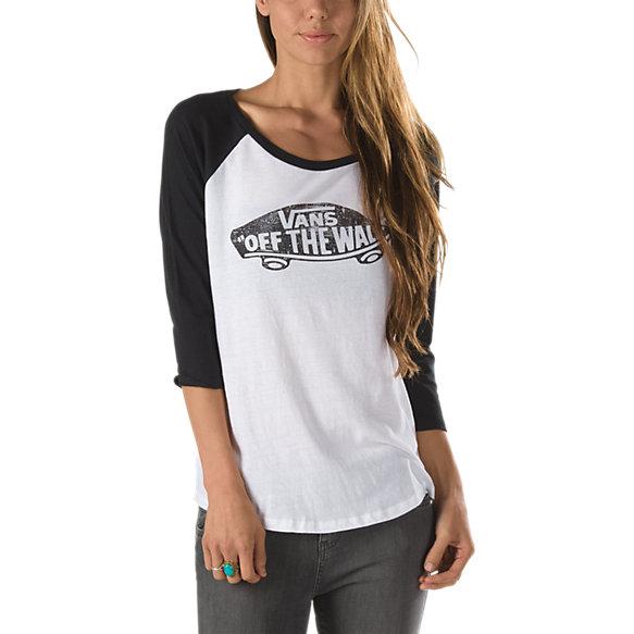 Authentic Skateboard Raglan Tee Shop Womens Tees At Vans
