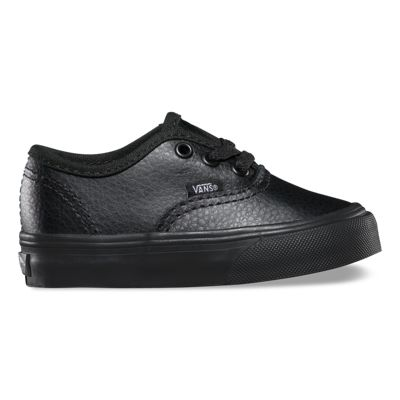 Vans Shoes Toddlers Leather Authentic (black/black)
