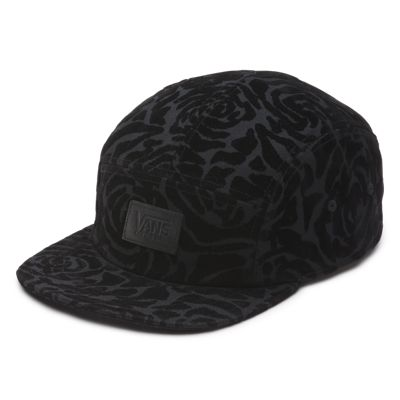 Vans Gwen 5 Panel Camper Hat (Black/Black) Womens Hats