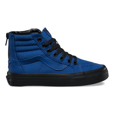 Vans Kids Black Outsole SK8-Hi Zip (true blue/black)