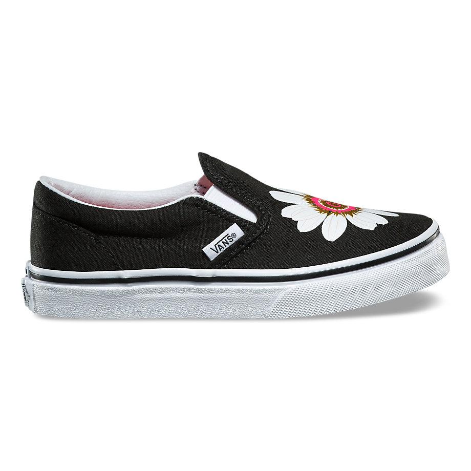 716ce48271 Vans Kids Flower Petals Slip-on (black paradise Pink)