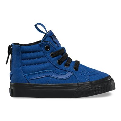 Vans Toddler Black Outsole SK8-Hi Zip (true blue/black)