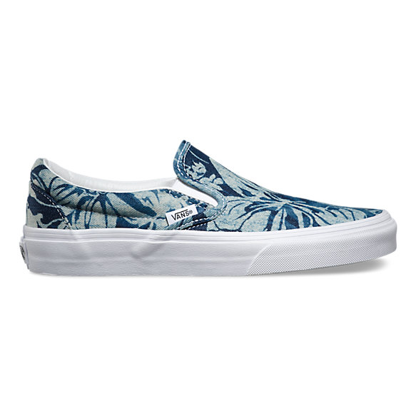 Vans Patterned Blue And White Shoes