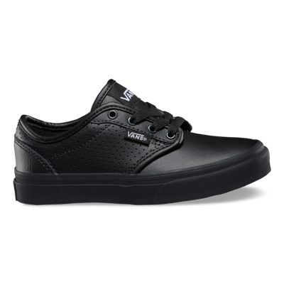 Vans Kids Atwood (Perf Leather Black/black)