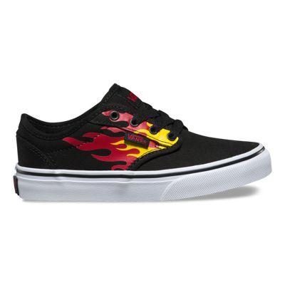 Vans Kids Atwood (Flame Black/Black)