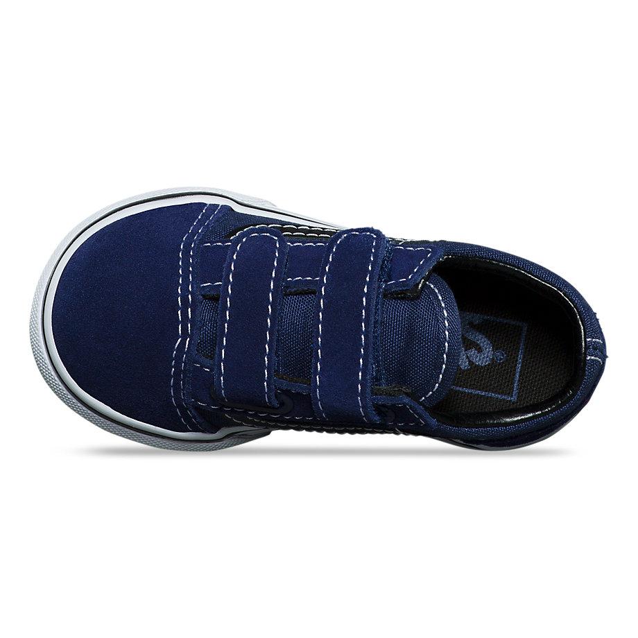 Vans Toddler Old Skool V (medieval Blue Black)  4fdb6ab86