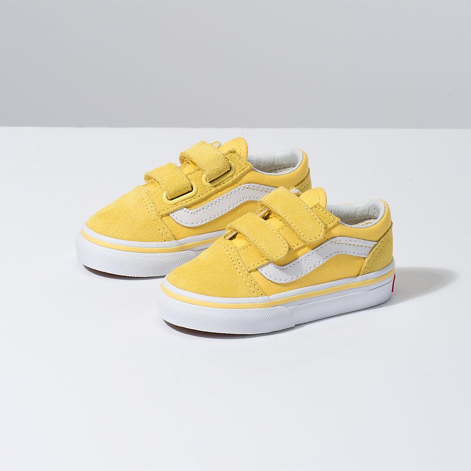 Vans Toddler Old Skool V (aspen Gold true White)  edb021b40