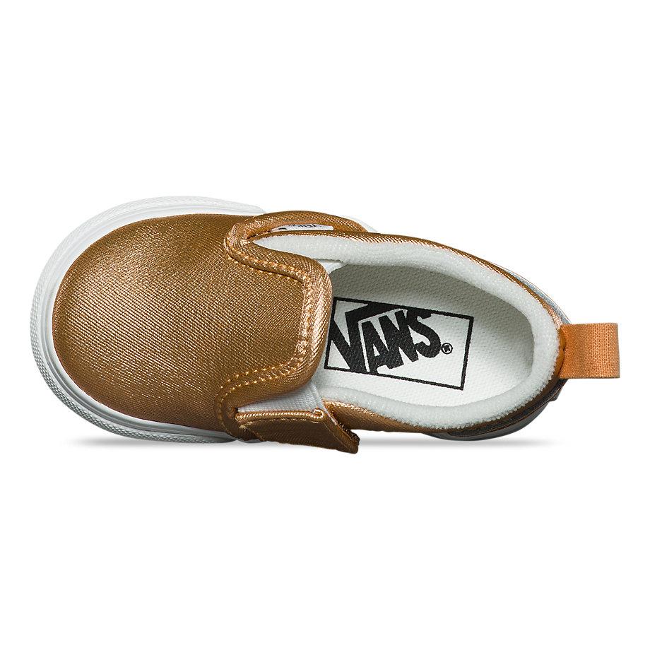 d34c78a85 Vans Toddler Metallic Leather Slip-on V (light Copper) | ricciano ...