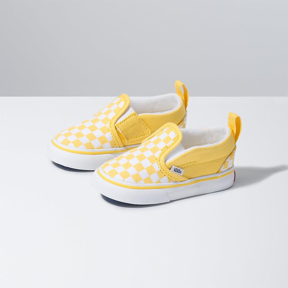 Vans Toddler Checkerboard Slip-on V (aspen Gold true White ... bc203a9b2