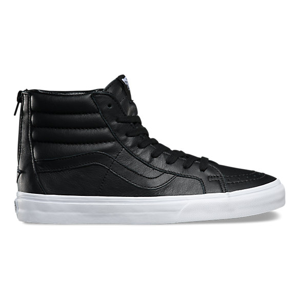 vans sk8 hi reissue leather black