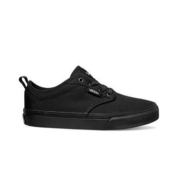 Vans Kids Elastic Lace Atwood Slip-On (Canvas black/black)