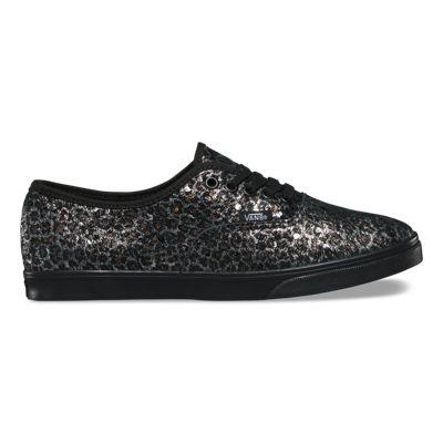 Vans Metallic Leopard Authentic Lo Pro (black/black)