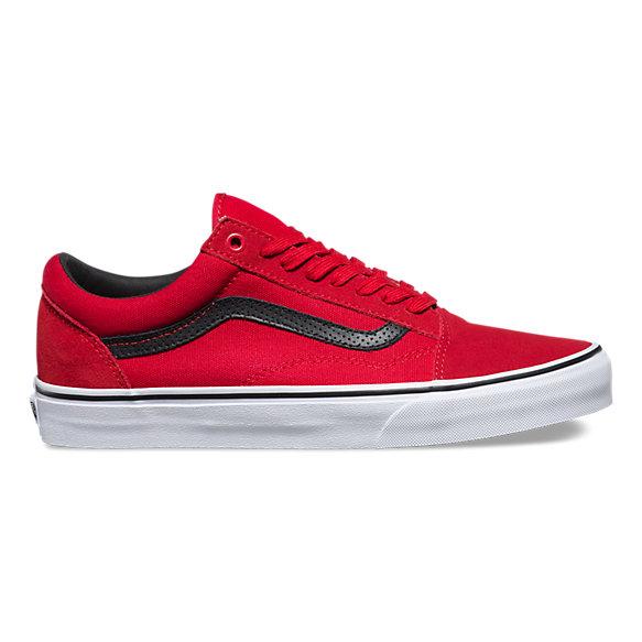 Vans Old Skool C&P Racing Red Black Mens Womens Shoes Size 4 ...
