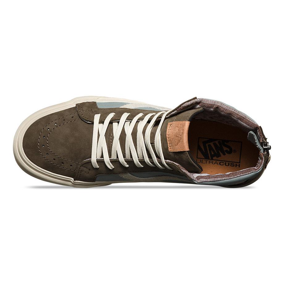 139cf85c47daa0 Vans Sk8-hi Zip (leather nubuck suede Major Brown)