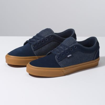 0edcf3278d Vans Denim Chukka Low Shoes ((denim) Dress Blues classic Gum) Men