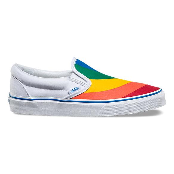 Vans Classic Rainbow Slip On Shoes