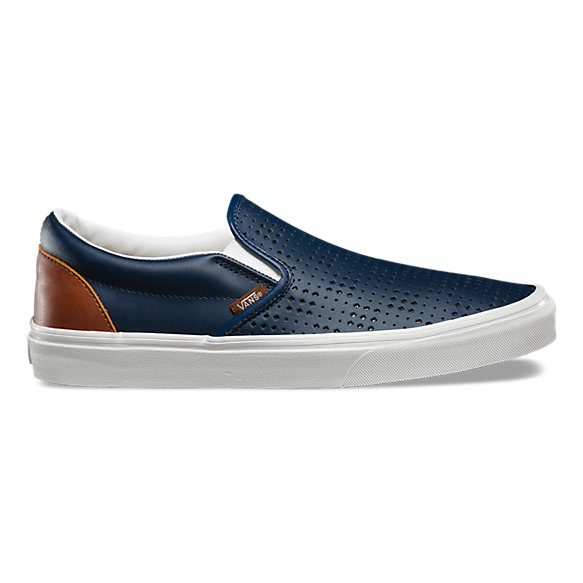Leather Perf Slip-On