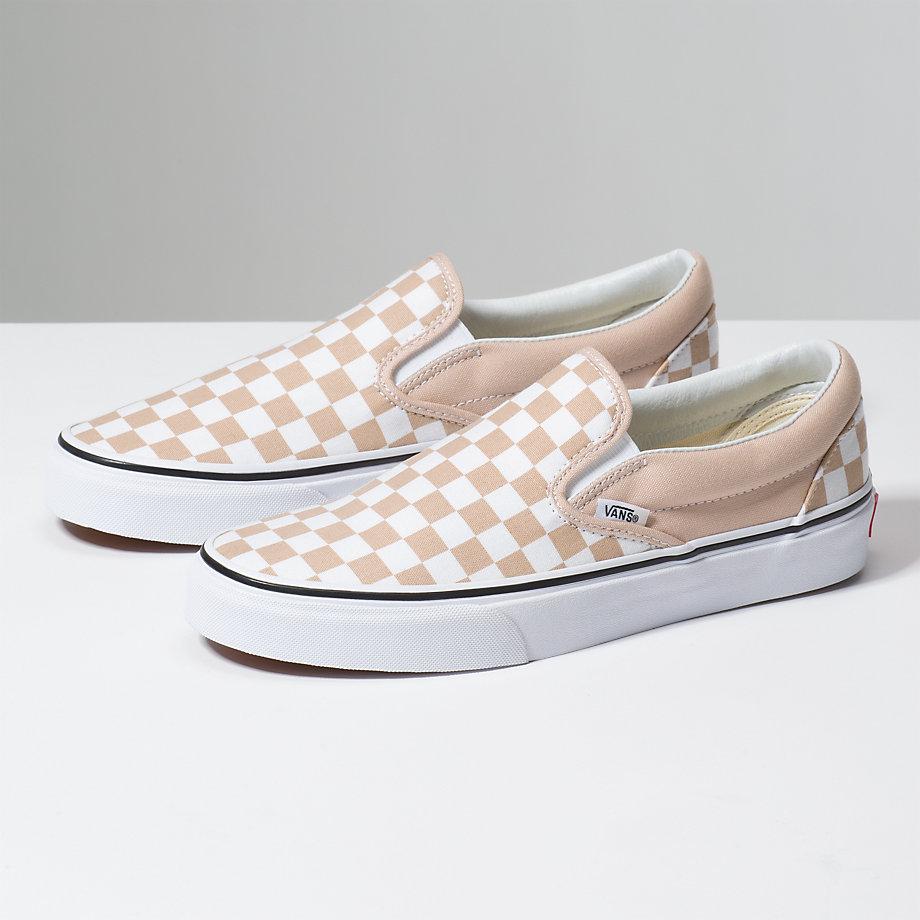 vans checkerboard slip on frappe