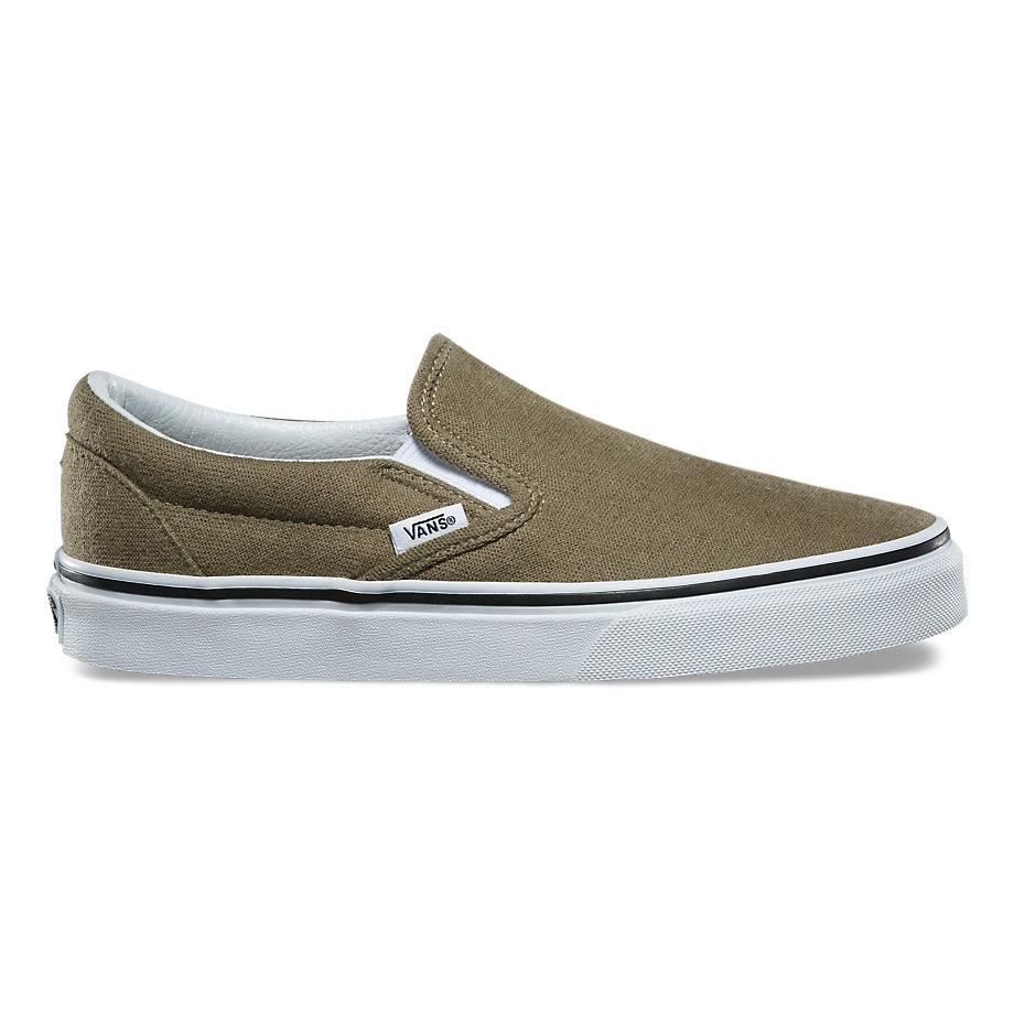Vans Cotton Hemp Classic Slip-on (dusky Green true White)  009631850