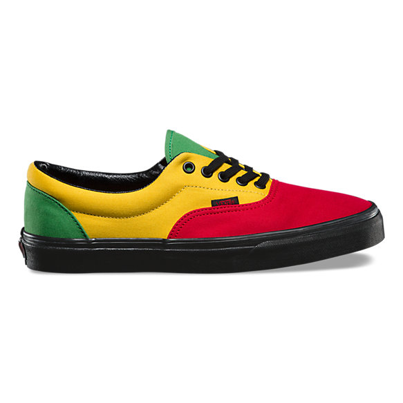 rasta vans era leather
