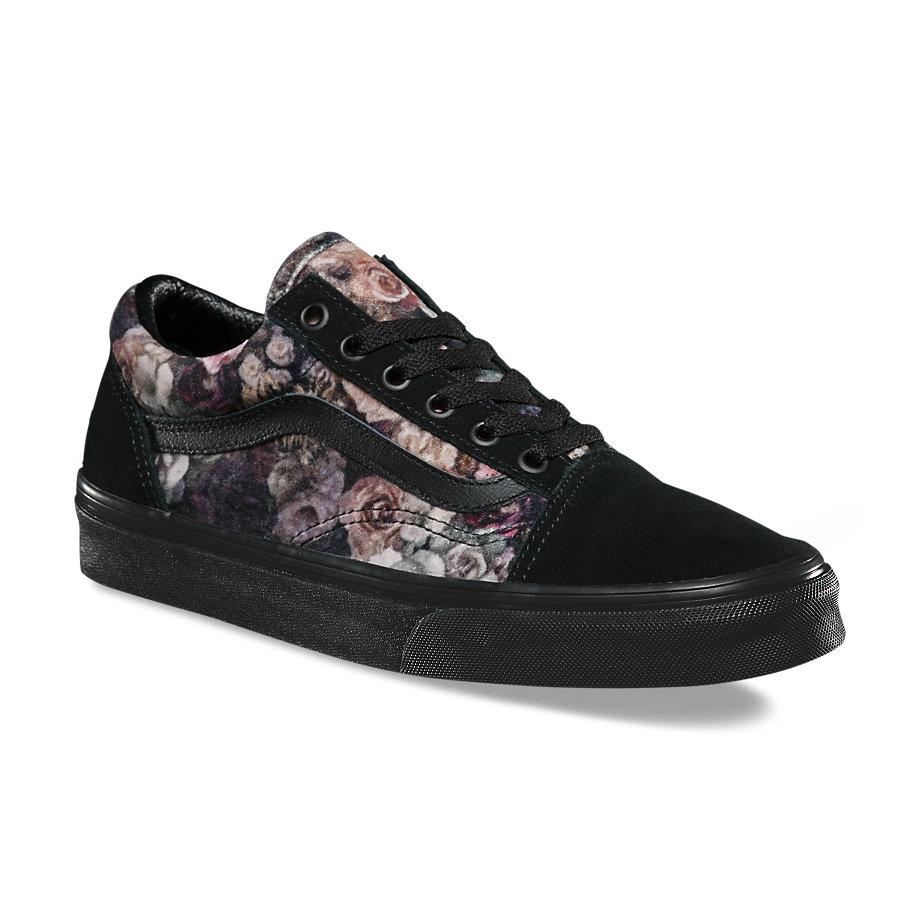 Vans Velvet Old Skool (floral black)  e4b916215