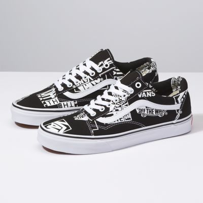 Vans Logo Mix Old Skool Schuhe ((logo Mix) Black true White) 7c098383d