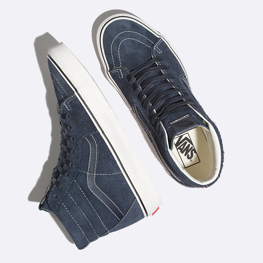 Vans Hairy Suede Sk8-hi (sky Captain snow White)  2809ac5ce