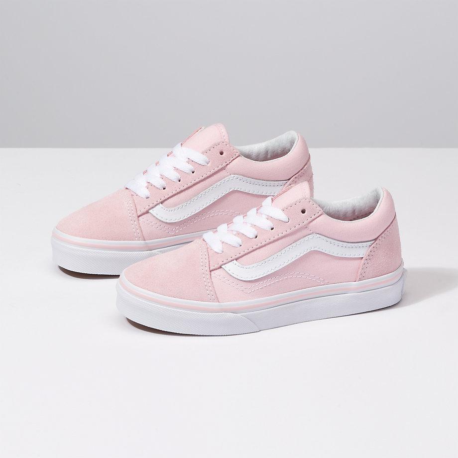 7bf029b148 Vans Kids Suede Canvas Old Skool (chalk Pink true White)