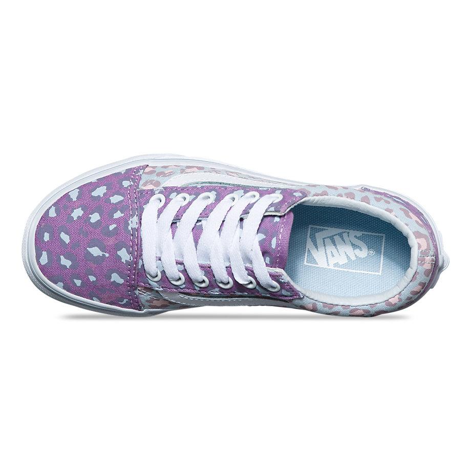 Vans Kids 2-tone Leopard Old Skool (diffused Orchid baby Blue ... b20b977ef