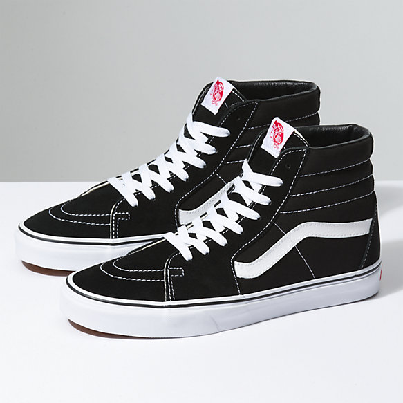 classic vans black and white high tops