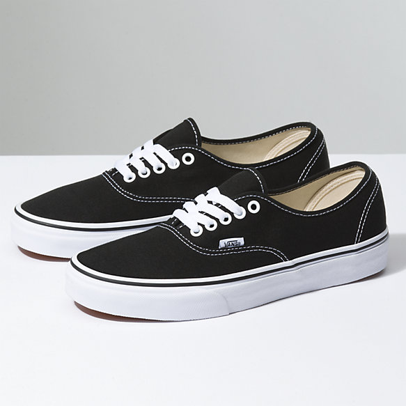mens authentic black vans