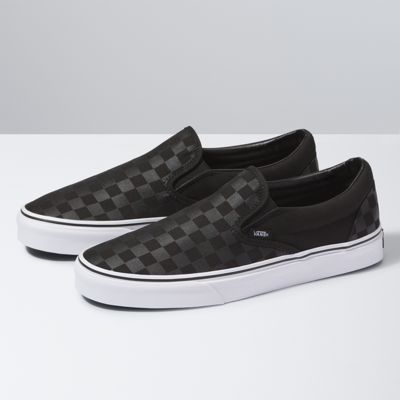 Vans Shoes Checkerboard Slip-On (Black/Black Check)