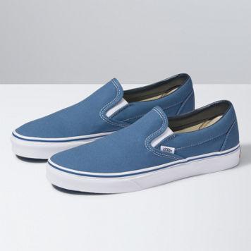 boys vans slip ons blue
