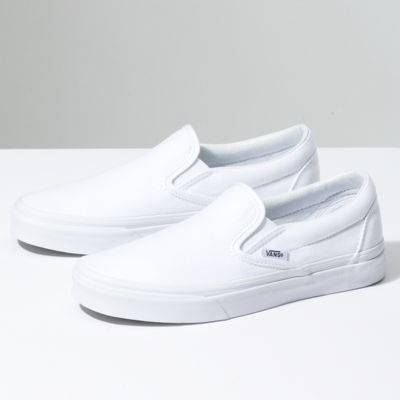 vans classic slip on white womens