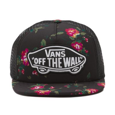 Vans Beach Girl Trucker Hat (Floral Black Black)