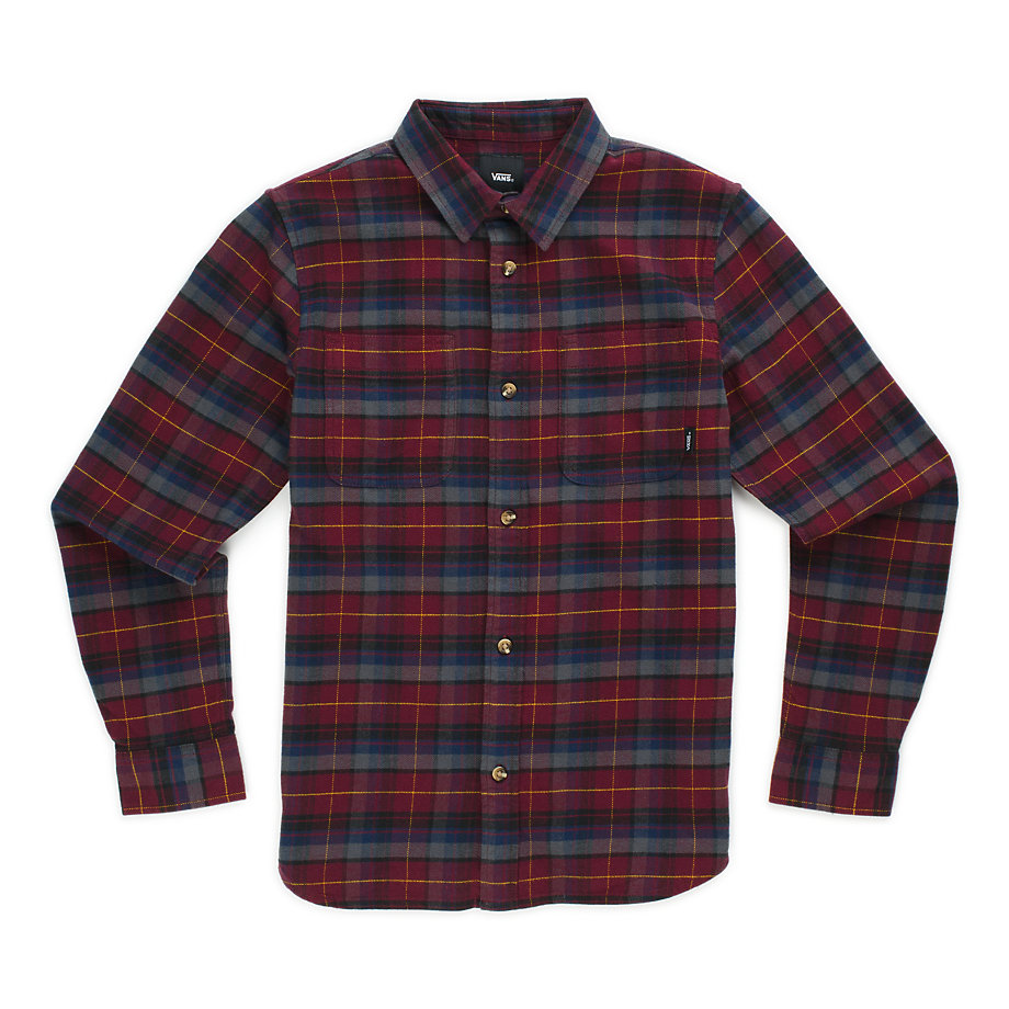 ee3dd1ce32 Vans Boys Banfield Flannel Shirt (port Royale asphalt)