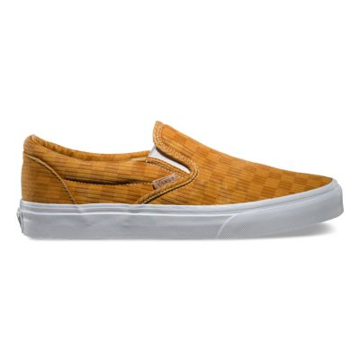 c54665ce60a Vans Washed Herringbone Classic Slip-on Ca (inca Gold check) – Dabcube