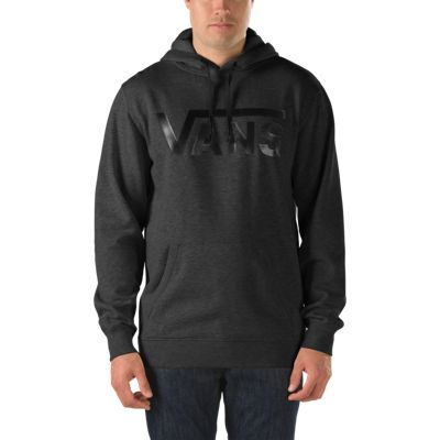 Vans Classic Pullover Hoodie (Black Heather/Black) Mens Sweatshirts