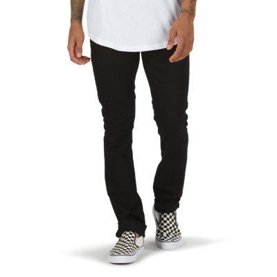 Vans V76 Overdye Black Skinny Jean (Overdye Black) Mens Pants