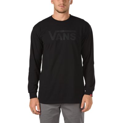 Vans Classic Long Sleeve T-Shirt (Black-Black)