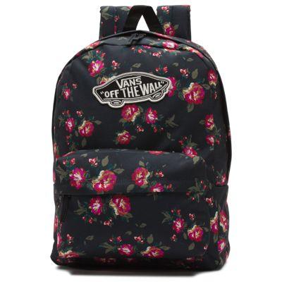 Vans Realm Backpack (Floral Black Black)