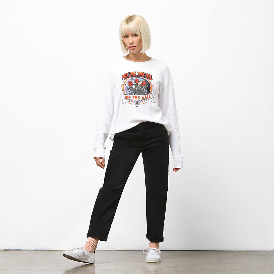 e00c25b7 Vans Rosie Tour Long Sleeve Thermal Top (white) | ricciano UNITED STATES