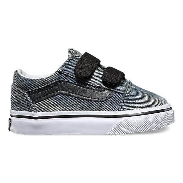 Toddlers acid denim old skool v shop toddler shoes at vans for Old skool acid house