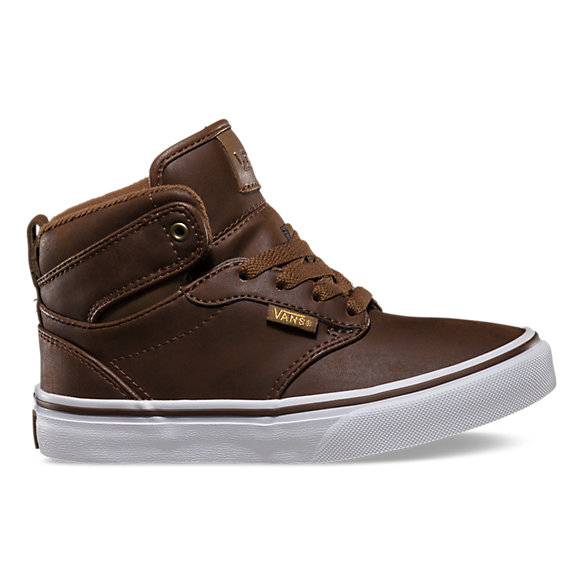 vans childrens atwood hi-top trainers brown
