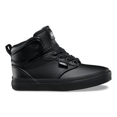 Vans Kids Atwood Hi (Perf Leather Black/black)